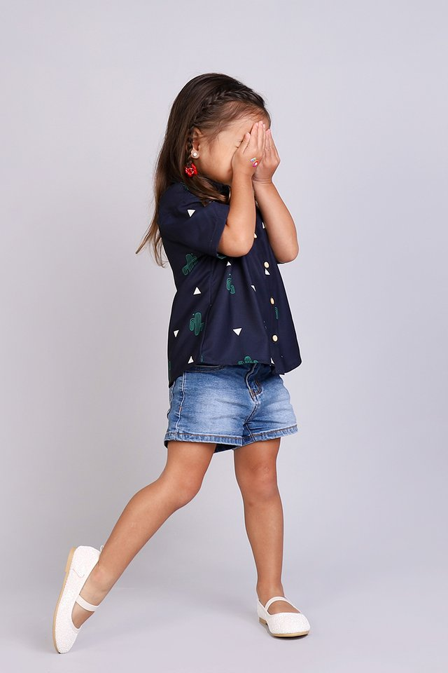 Everyday Adoration Shirt In Blue Cactus