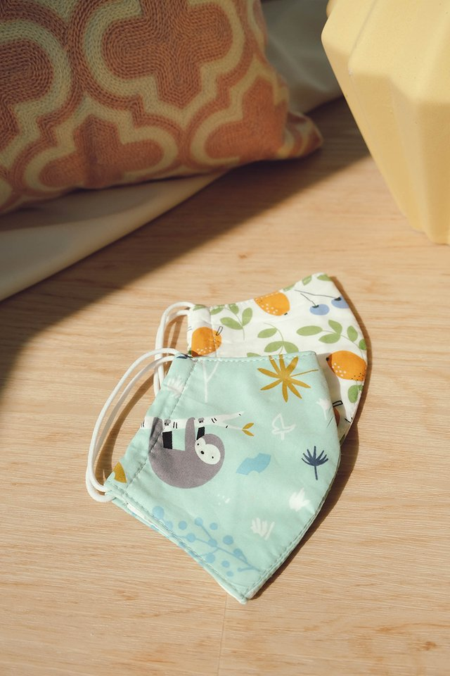 Bella Kids Face Mask In Koala Mint