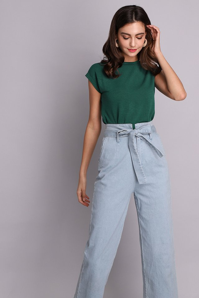 Ellie Top In Forest Green