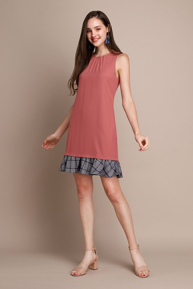 Social Order Dress In Tea Rose