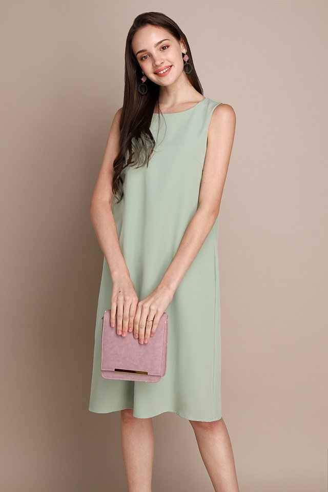 Back In The Limelight Dress In Sage Cream