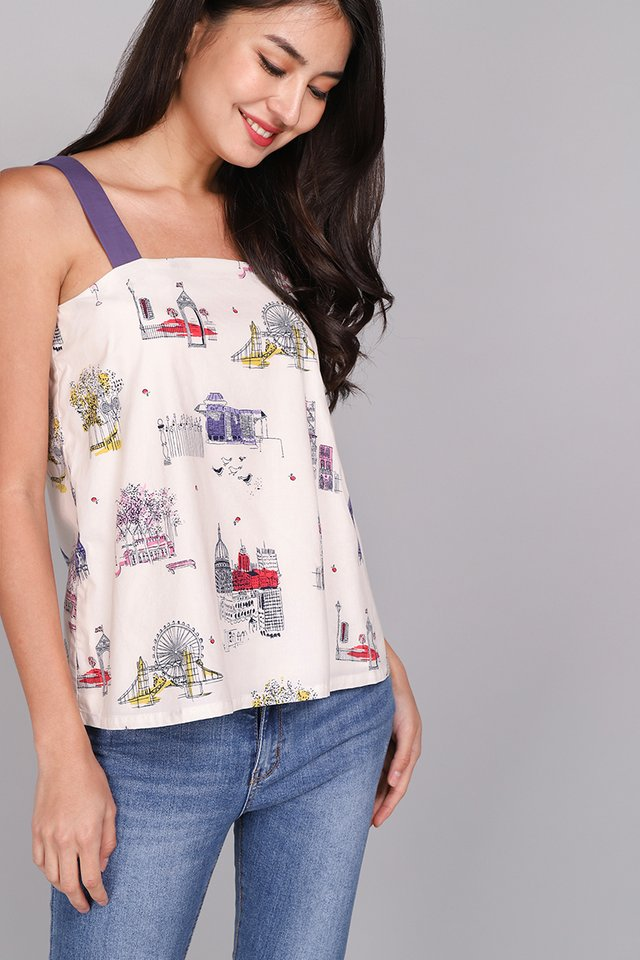 Daydreamer Top In Cream Prints