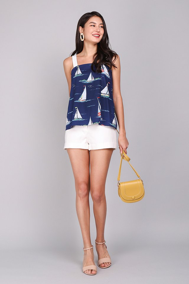 Daydreamer Top In Boat Prints
