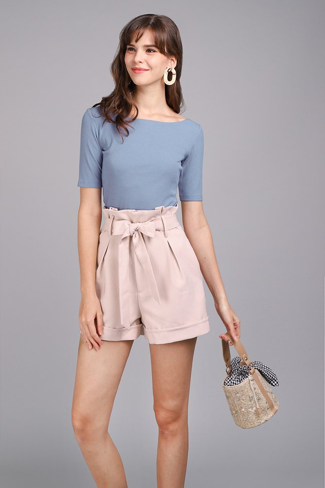 Colette Top In Muted Blue