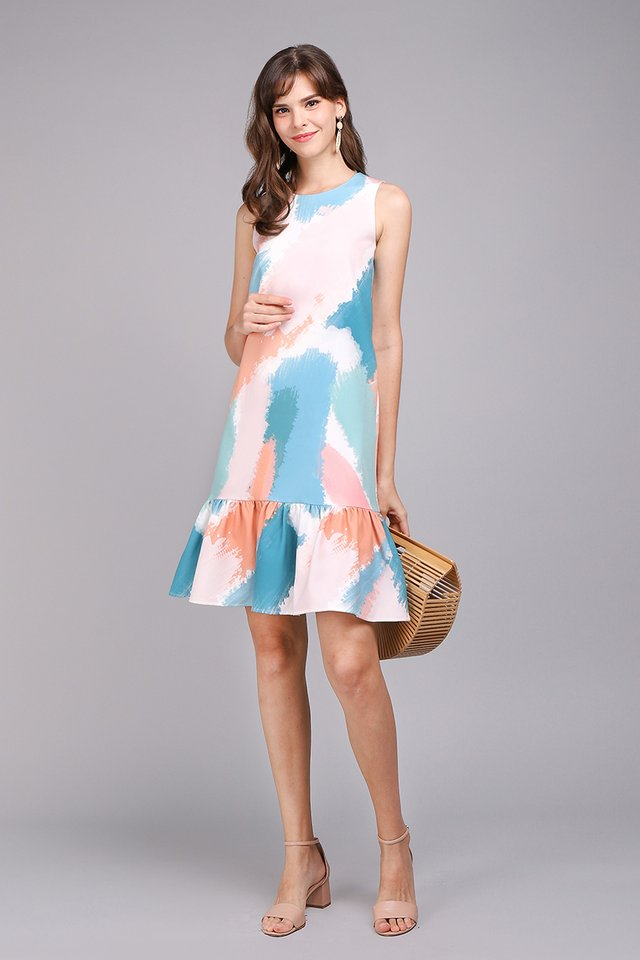 Right As Rainbow Dress In Coral Pink
