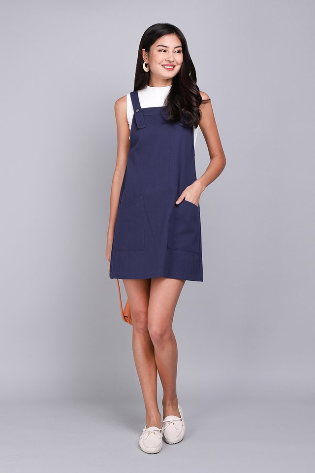Huckleberry Stories Dress In Navy Blue