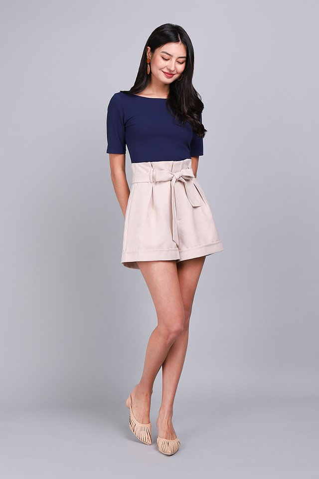 Colette Top In Navy Blue