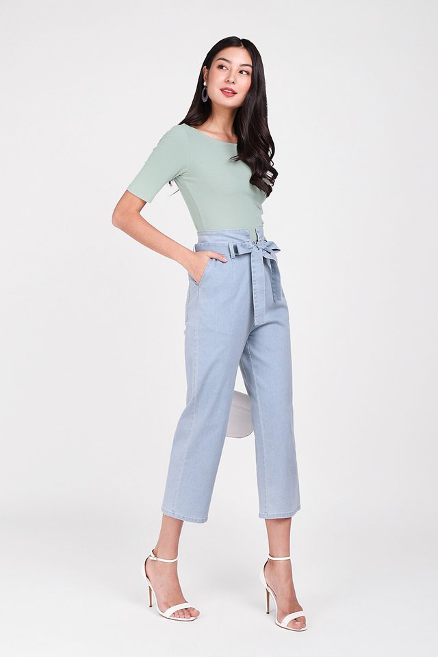 Colette Top In Seafoam