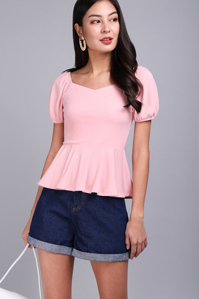 Rachel Top In Cotton Pink