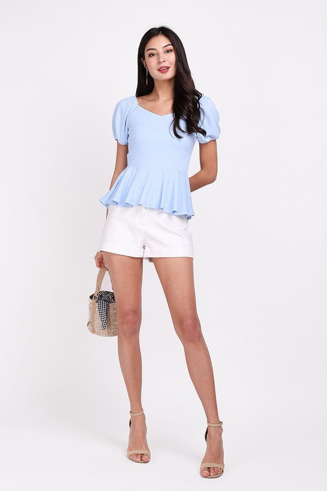 Rachel Top In Sky Blue