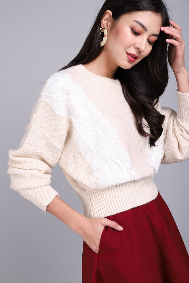 Sweater Season Pullover In Soft Cream