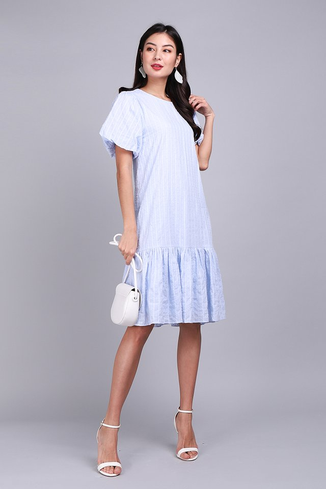Adoringly Yours Dress In Sky Blue