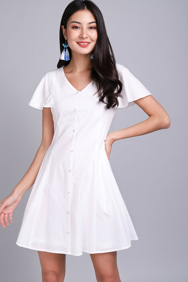 Summer Merriment Dress In Classic White