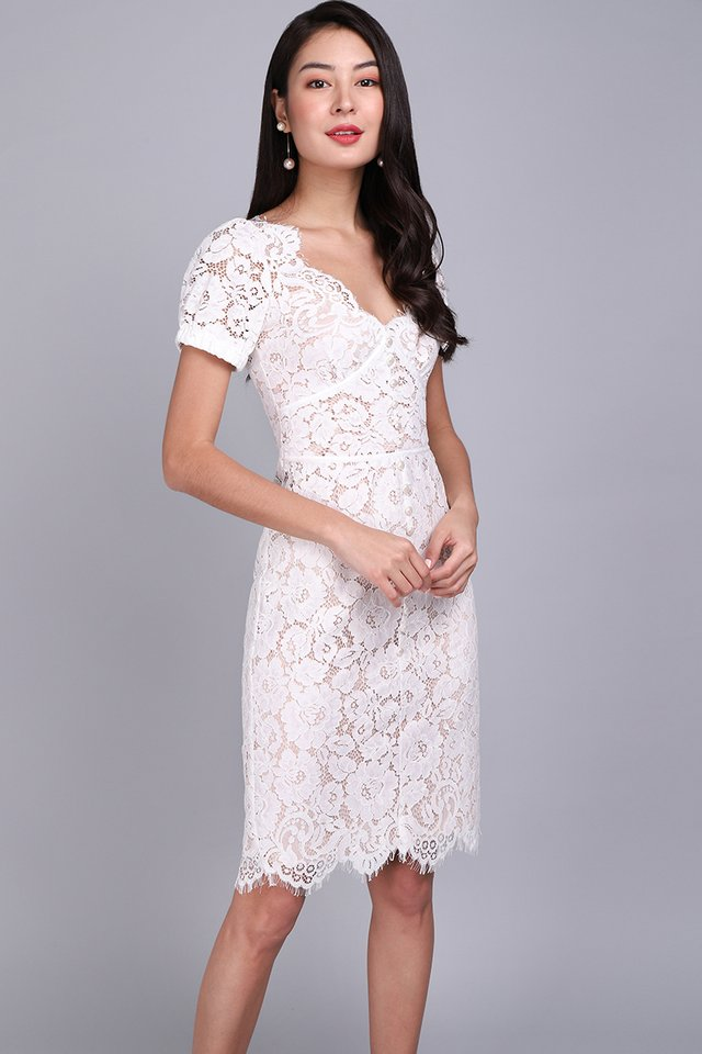 [BO] Spring Portrait Dress In White Lace