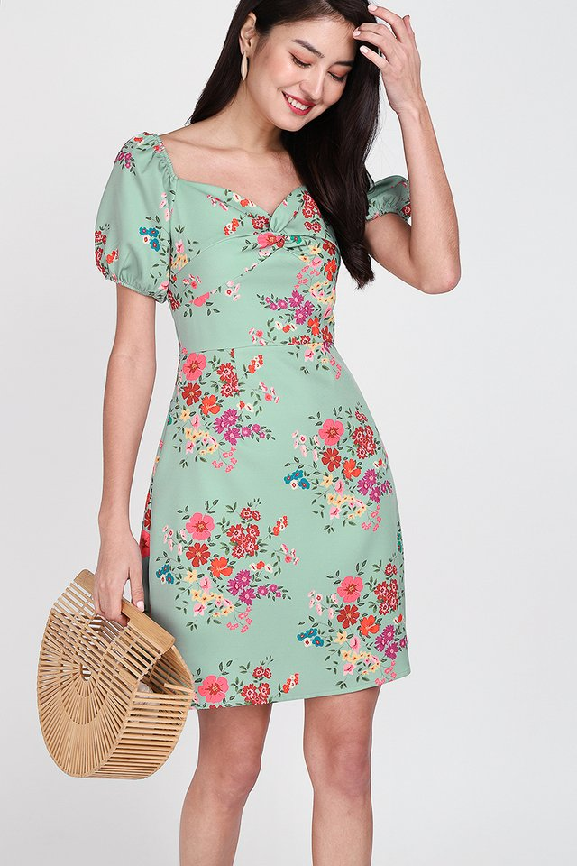 Blooming Beginnings Dress In Sage Florals