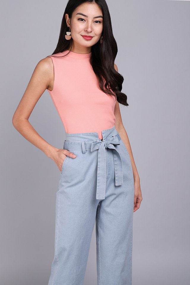Piper Top In Coral Pink