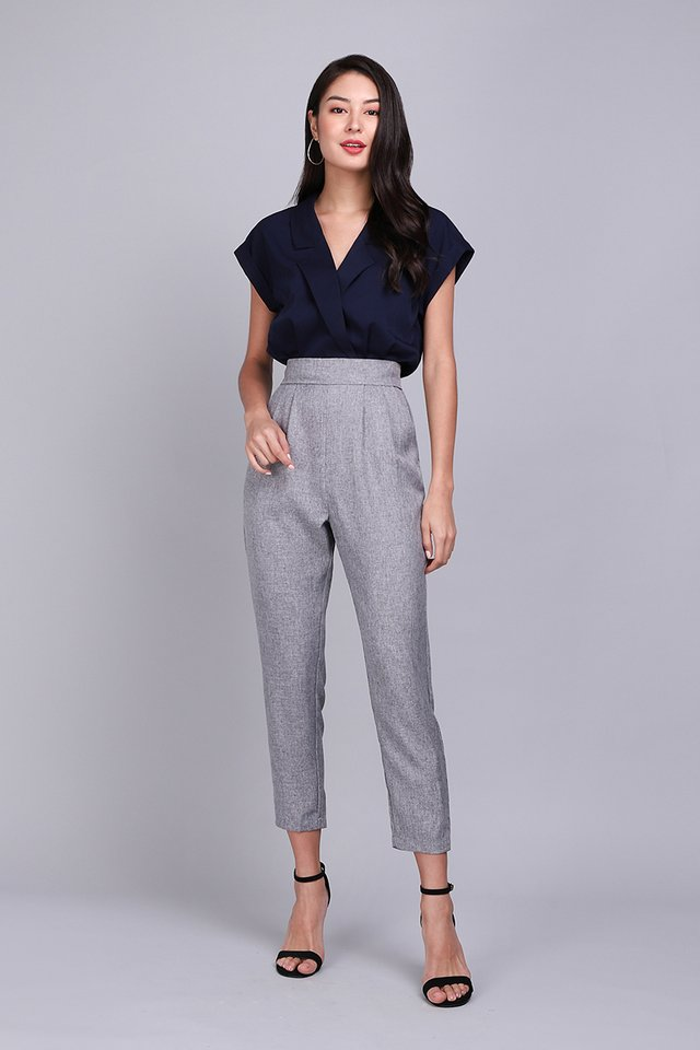 [BO] French Quarter Romper In Blue Grey