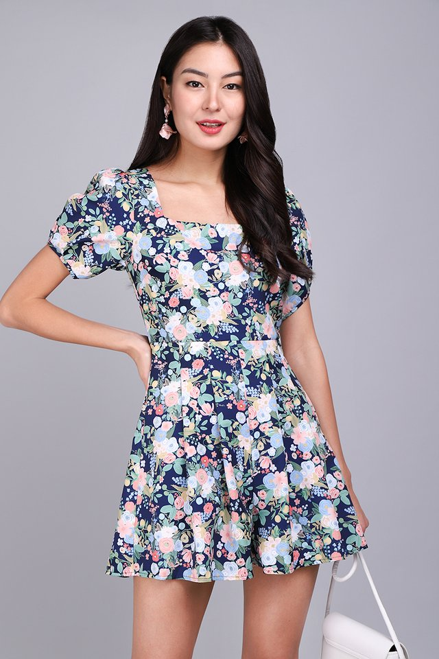 [BO] Spring Encounter Romper In Blue Florals