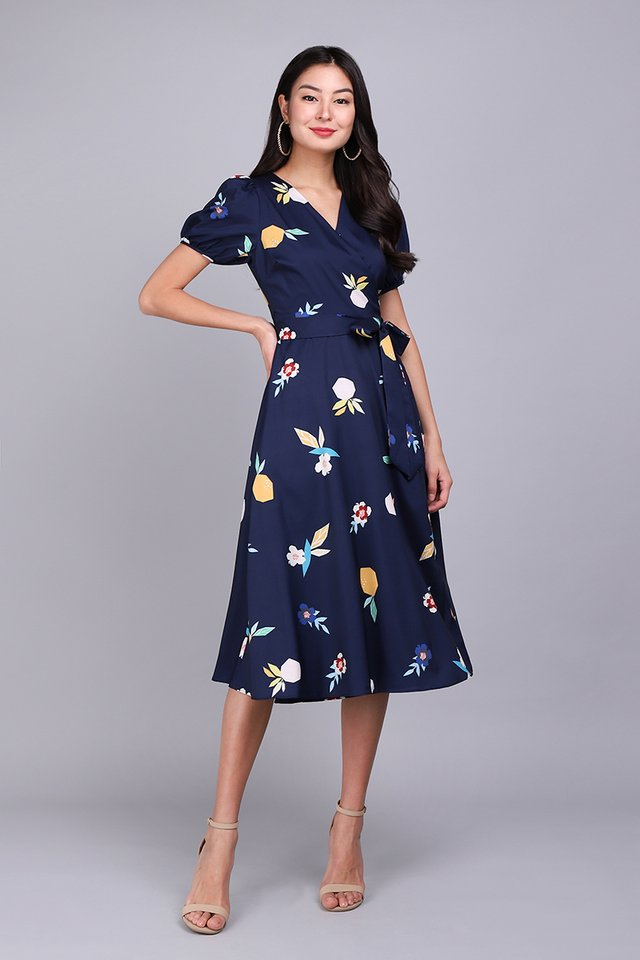 [BO] Fruit For Thought Dress In Blue Prints