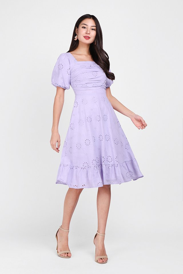 [BO] Sing A Song Of Spring Dress In Lavender