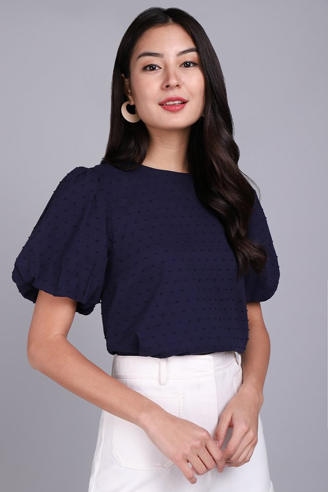 [BO] Maia Top In Navy Blue