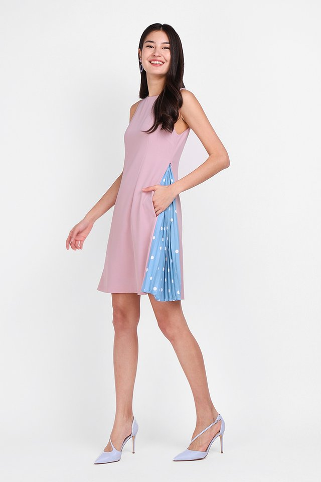 Merry Disposition Dress In Dusty Pink