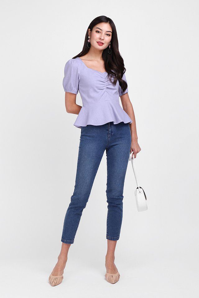 Be My Girl Top In Lavender