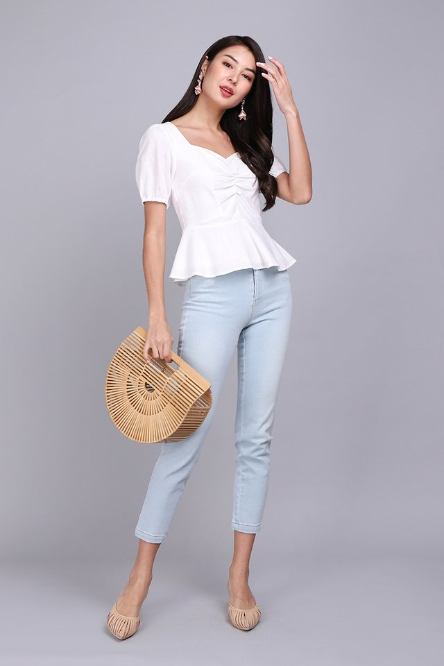 Be My Girl Top In Classic White