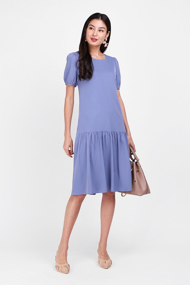 [BO] Colour Cascade Dress In Periwinkle