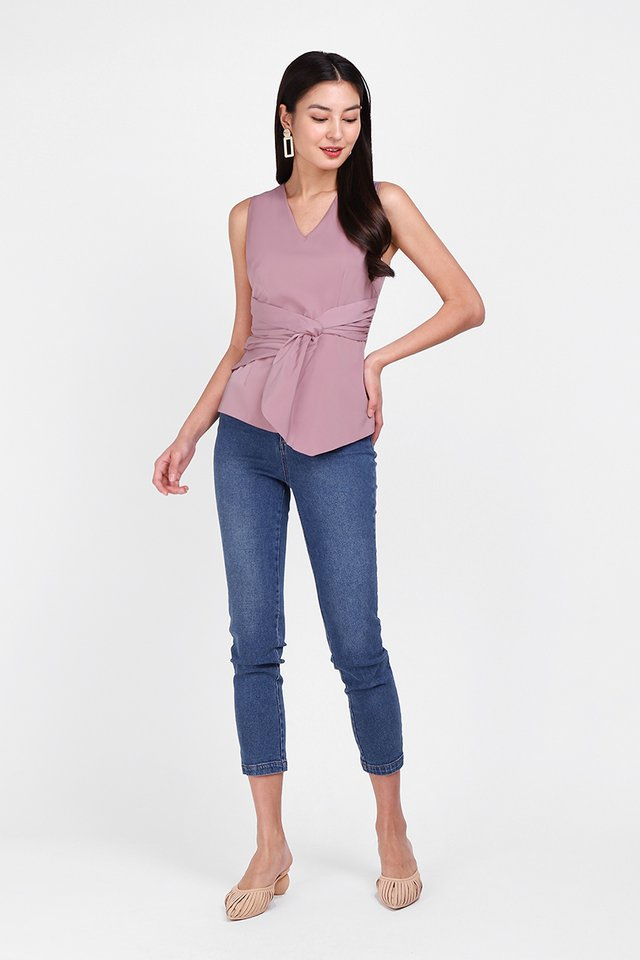 Heartfelt Evening Top In Dusty Pink