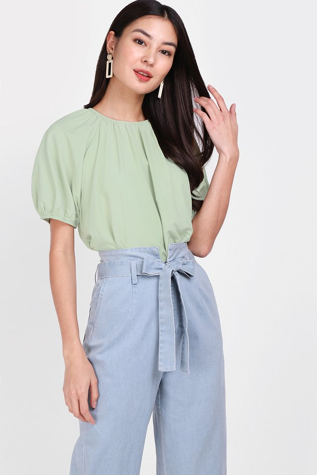 [BO] Road Trip Top In Sage Green