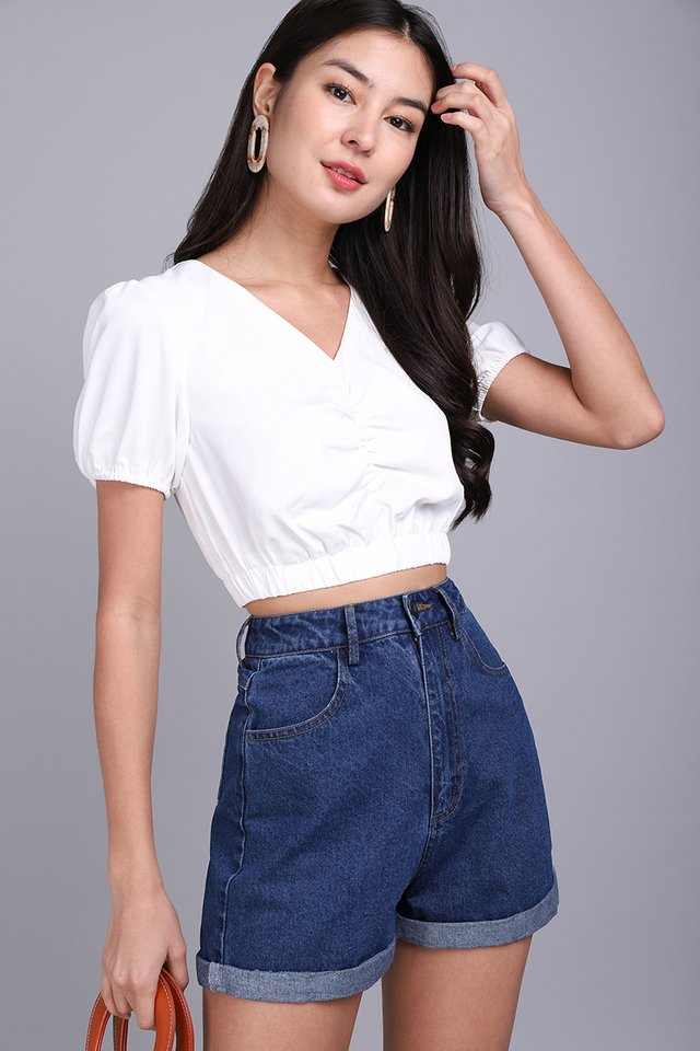 Lasso My Heart Top In Classic White
