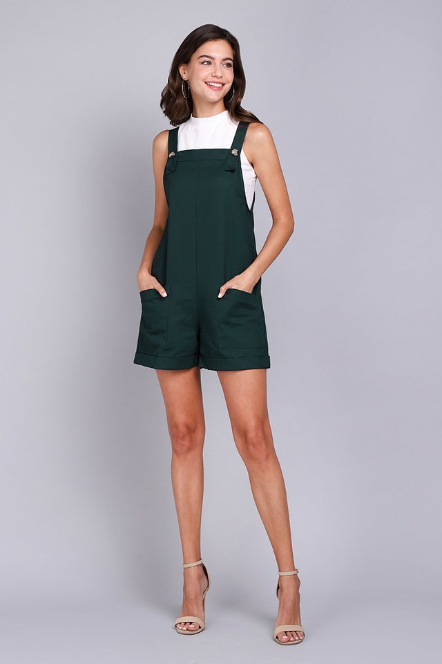 My Huckleberry Friend Romper In Forest
