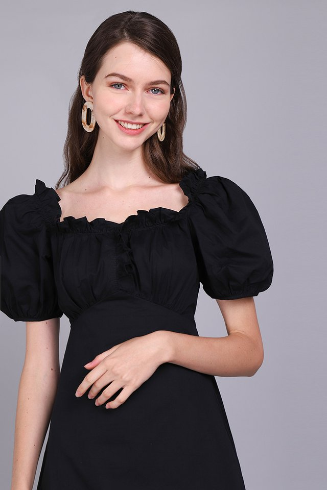Midnight Outlook Dress In Classic Black