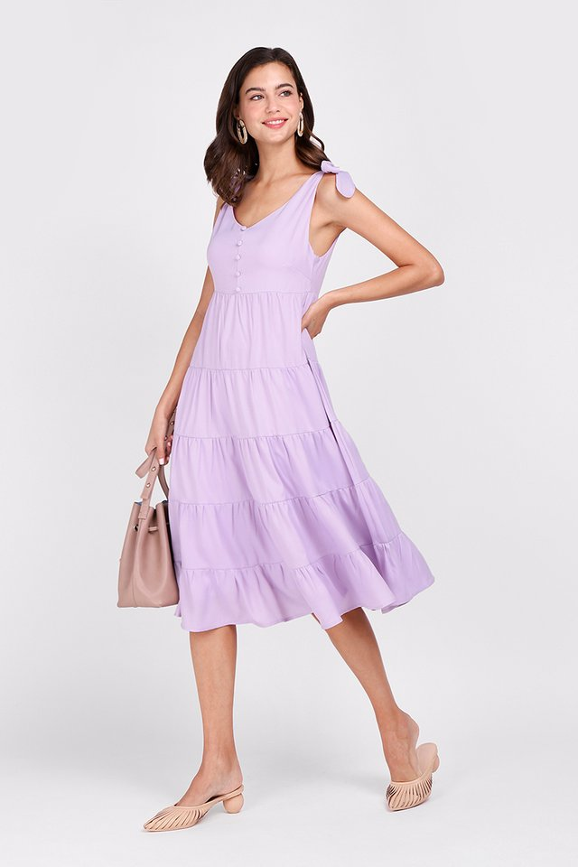 Tiers Of Happiness Dress In Lavender
