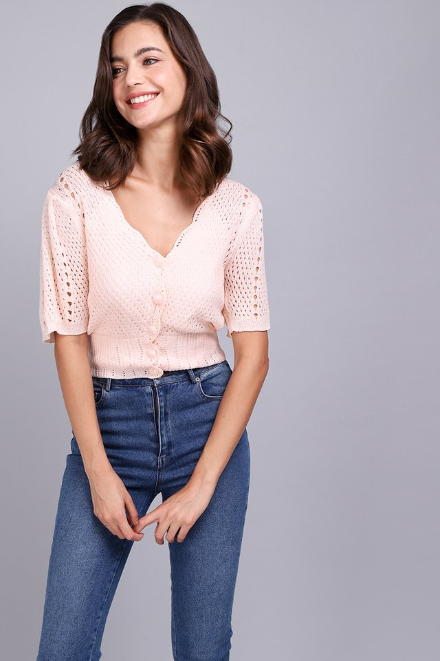 [BO] Ideal Weekend Top In Peach