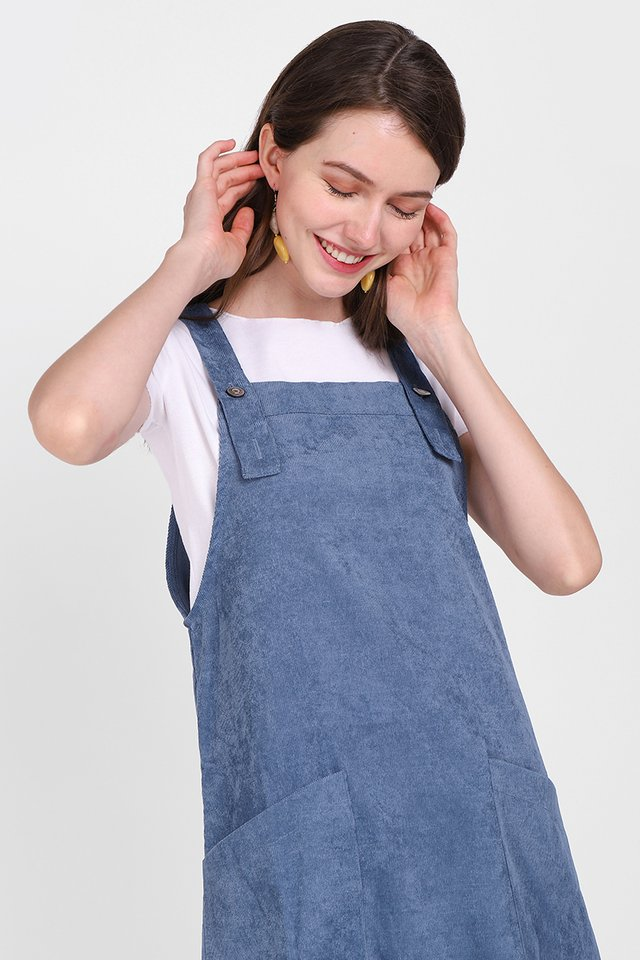 Huckleberry Stories Dress In Muted Blue