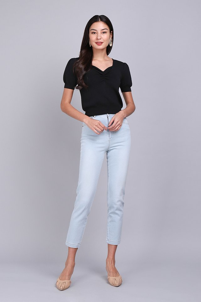 Isabelle Top In Classic Black