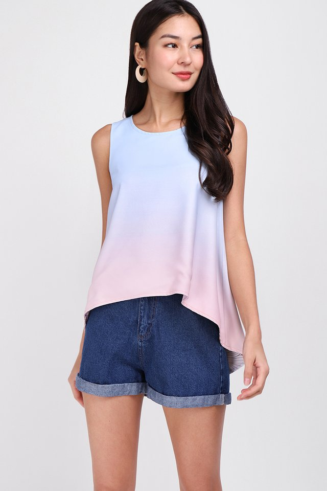 [BO] Comfort Zone Top In Sky Pink