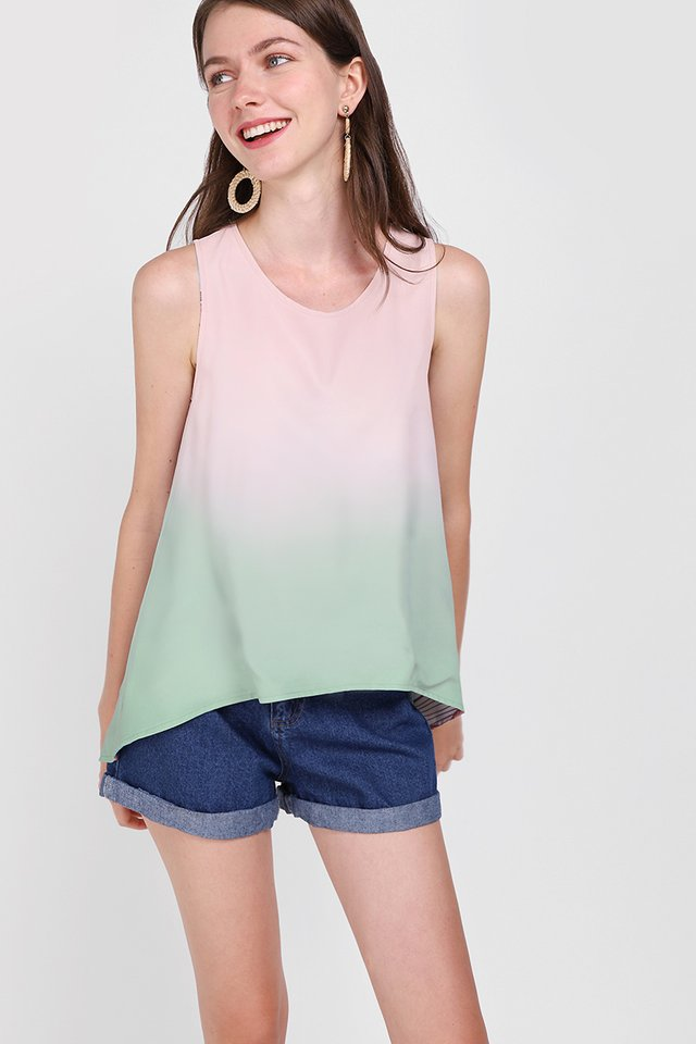 Comfort Zone Top In Pink Sage